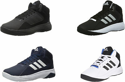 76f2ca81c64 ADIDAS CLOUDFOAM ILATION Mid Basketball Shoes Black Silver White ...