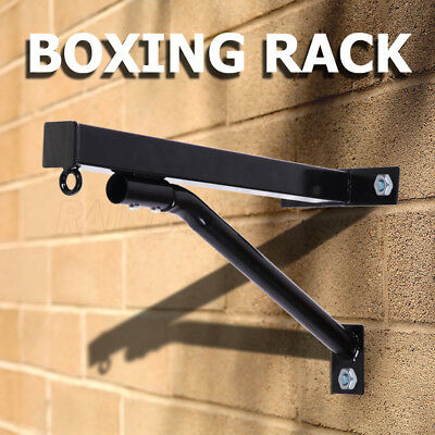 Boxing Bag Stand Rack Heavy Duty Wall Mounted Punching Speed Sparring Training
