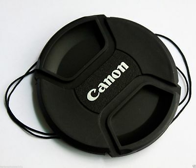 55mm 55 mm Snap-on Front Lens Cap Cover w Cord strap for Canon EOS EF lens E-55