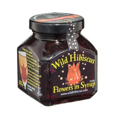 NEW Wild Hibiscus Hibiscus Flowers In Syrup 250g