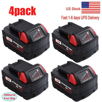 4X Replace For Milwaukee 48-11-1850 Extend Capacity Batteries M18 48-11-1852 18V