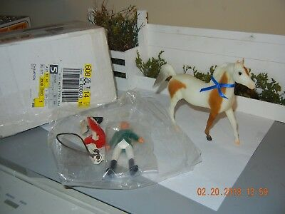 SR 1997 JCPenney Young Champions Show Horse set Light Chest nut Pinto Arabian