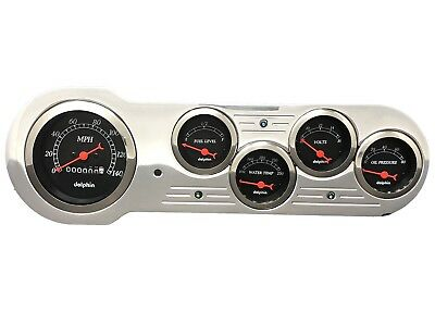 1953 1954 Chevy Car Gauge Cluster Black