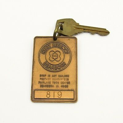 Vintage Hotel Fob and Key - Hyatt Regency Dearborn Michigan Room 819