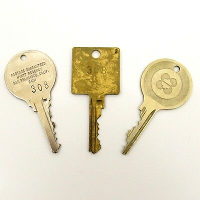 Vintage Hotel Fob and Key Hyatt Regency San Francison California Lot of 3