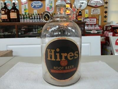 Hires Old Root Beer Soda Fountain Syrup Jug Paper Label Philadelphia, Pa.