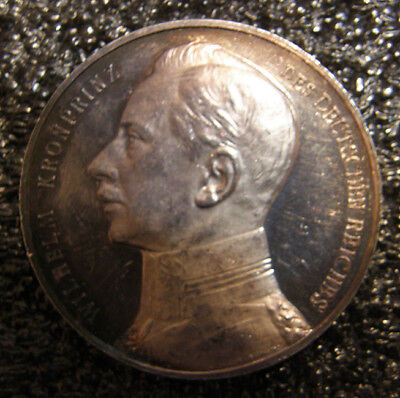 """Germany 1914 Wwi """"victory Of Longwy"""" Silver Medal Proof Rare."""