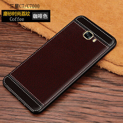 For Samsung Galaxy C5/ C7, Full Cover Shockproof Leather Pattern Soft TPU Case