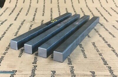 "3/4"" X 3/4"" SQUARE BAR SQUARE SHAFT 8"" Long Solid Bar Blacksmithing Welding 4pcs"