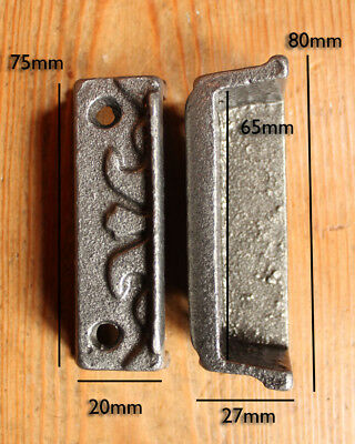CAST IRON RIM LOCK DOOR KEEP 106mm ~ BRITISH MADE VICTORIAN RIMLOCK KEEPS ~ KP19