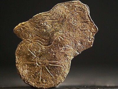 Ancient Celtic Solid GOLD Amulet depicting Goddess Deity on Wheel, c 150-50 Bc.