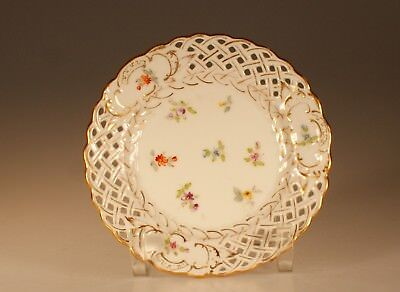 "Richard Klemm ""Dresden"" Reticulated Bread and Butter Plate A on Meissen Blank"