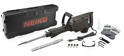 Electric Demolition Jack Hammer, Industrial-Grade | 2 Cr-V Chisels + Case