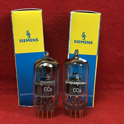 2x great tested CCa Siemens & Halske Grey Shield ( E88CC / 6922 )