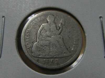 Rare VG+ 1863-S Seated dime ... only 157,500 made ( fhh )