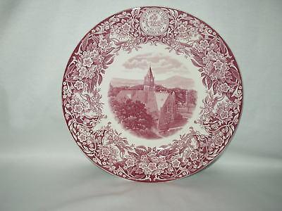 """Wedgwood MOUNT HOLYOKE COLLEGE 10 1/4"""" PLATE Signed MARY E. WOOLEY Clapp Tower"""