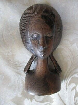 African Woman Figurine - Ebony
