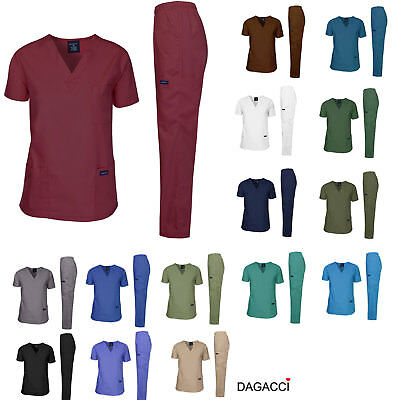 Dagacci Scrubs Medical Uniform Men Scrubs Set Medical Scrubs Top and Pants