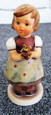 "Hummel Goebel Flowers  For Mother #257 1963  5"" Tall West Germany Some Crazing"