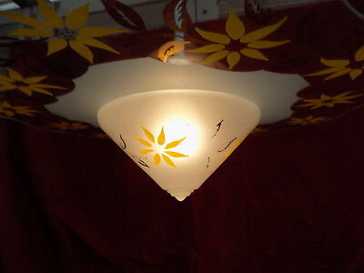 LUSTRE SOUCOUPE VOLANTE ( ovni ) ANNEES 30 / 50 STYLE SCANDINAVE