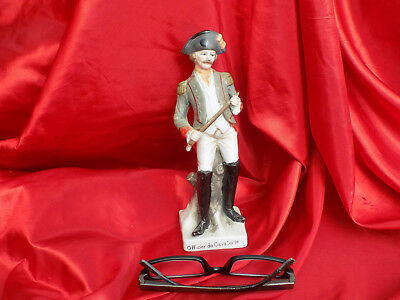 Soldat De L'empire Napoleon  Officier De Cavalerie  En Biscuit Deco Antique