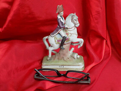 Soldat De L'empire Napoleon Ney Sur Son Cheval N° 2  En Biscuit Deco Antique
