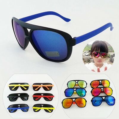Sunglasses UV 400 Goggles Reflective Children Glasses Kids Boys Girls Color Film