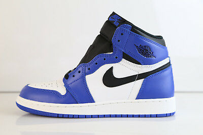 Nike Air Jordan Retro 1 High OG Game Royal Black Summit White GS 575441-403 4-7