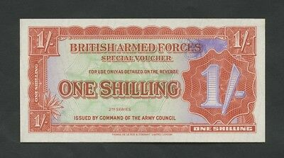 BRITISH ARMED FORCES  1s  1959-71  2nd Series  M18b  Uncirculated  Banknotes