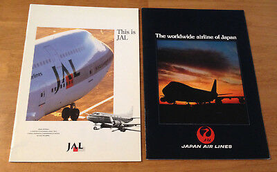 2 Vintage JAL Japan Air Lines Airline Collectible Aviation Booklets