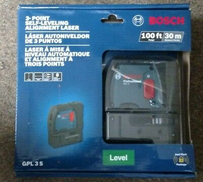 *NEW* Bosch GPL3 S 3-Point Self-Leveling Alignment Laser Level