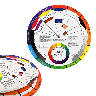 Large Colour Wheel Paint Mixing Guide Art Painting Artist Chart Wheel