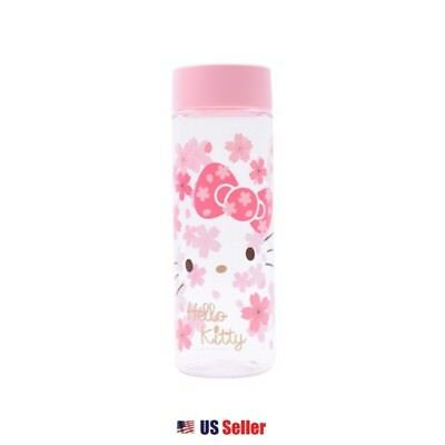 Sanrio Hello Kitty Sakura Cherry Blossom Water Bottle BPA FREE : Pink