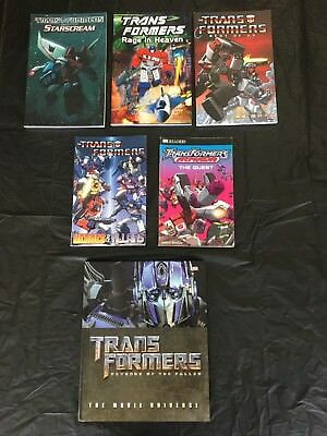 Transformers graphic novel and book lot