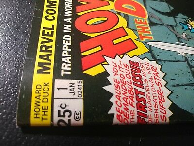 """Howard The Duck #1 Nm 9.4 White Pgs """"hilltop Pedigree Coll""""🐲1976 Beautiful Copy"""
