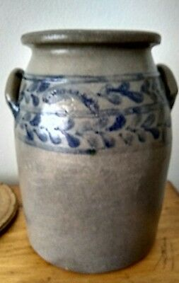 J Weaver Salt Glazed 3 Gallon Crock