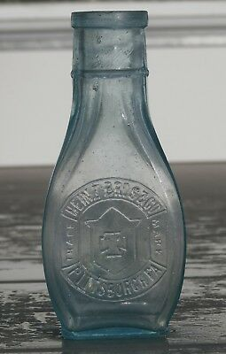 Early HEINZ BROS. & CO. Crude, Blown Condiment Bottle, PITTSBURGH PA.