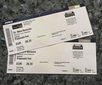 2x Tickets Dr. Mark Benecke 24. März 2018