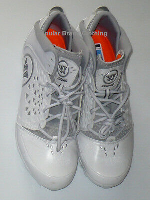 NEW Adonis Warrior Lacrosse Rabil Cleats White/Grey  Size 11