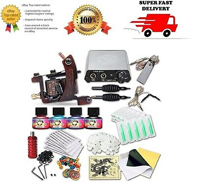 Complete Tattoo Kit Tattoo Starter Kit Full Pack of Tattoo Supplies with Machine