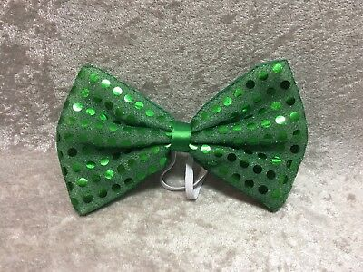 St Patrick's Day Sequin Bow Tie