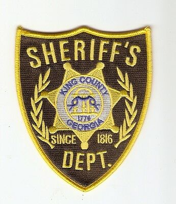 + THE WALKING DEAD Aufnäher Patch SHERIFF'S DEPT. King County