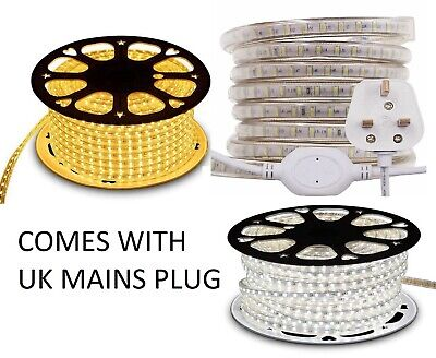 LED Strip AC 220V 240V IP67 Waterproof 3014 SMD 120 LEDs/m Commercial Rope Light