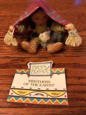 Friends of the Feather Brothers of the Earth by Enesco #115681 New in box