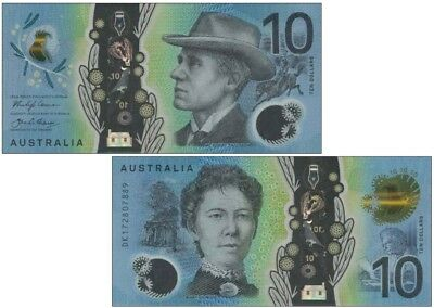 Australia 10 Dollars 2017 NEW Issue Clear Polymer & Sight Impaired Feature UNC