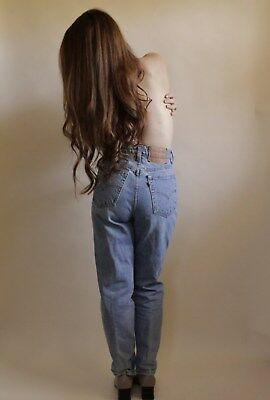 "Vtg 90s 512 Levi's Light Wash High Waisted Slim Fit Straght Leg Jeans 28"" waist"