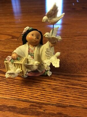 """FRIENDS of the FEATHER Enesco 1997 #329886 Fill the Air with Love """"Llena El Aire"""