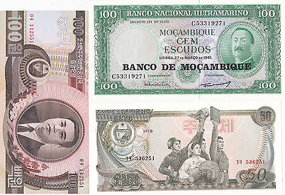 30 Different Larger Sized World Banknotes, Uncirculated