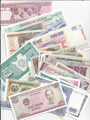 100 Different World Banknotes Collection Genuine & Uncirculated