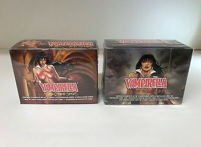 Vampirella Series 1 and 2 - Lot of 2 Sealed Trading Card Hobby Boxes - Breygent